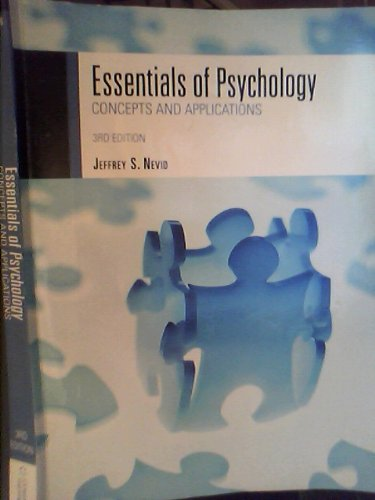 9781133228103: Essentials of Psychology Concepts and Applications