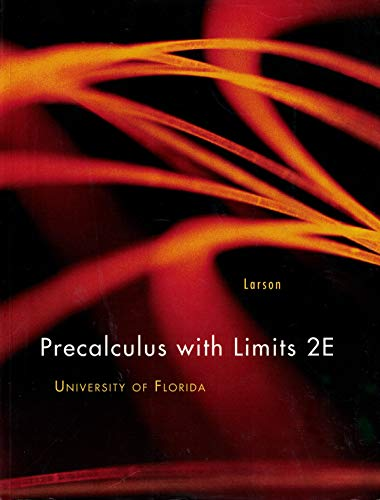 9781133228165: Precalculus with Limits 2E University of Florida