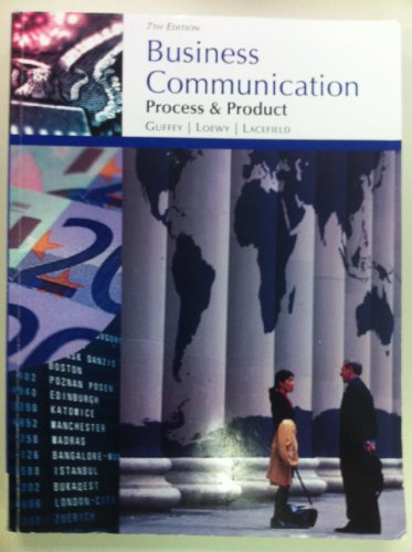 9781133234340: Business Communications: Process & Product (california edition, 1)