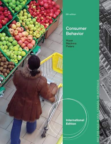 Consumer Behavior, International Edition: Hoyer, Wayne; MacInnis,