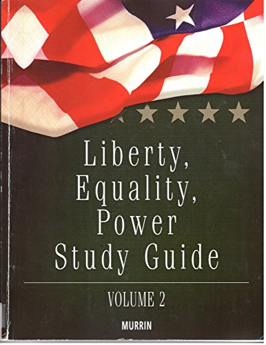 9781133275879: Liberty, Equality and Power Study Guide, Volume 2
