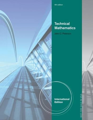 Technical Mathematics (1133277594) by Peterson, John C.
