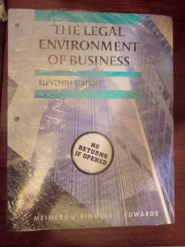 9781133291930: The Legal Environment of Business 11th (Eleventh) Edition By Meiners, Ringleb, and Edwards W/ COURSEMATE ACCESS CODE