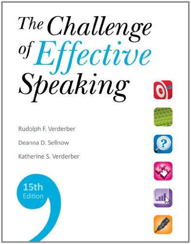 Bundle: The Challenge of Effective Speaking, 15th: Rudolph F. Verderber/
