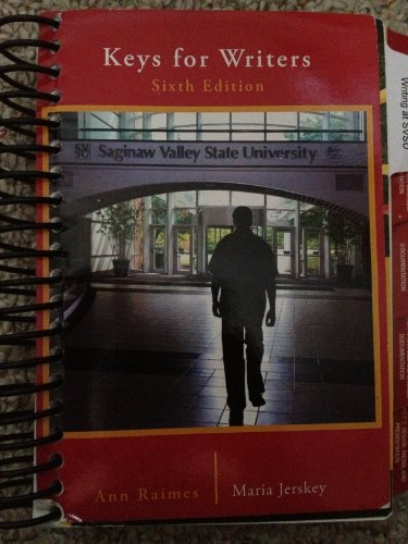 9781133306450: Keys for Writers Sixth Edition Saginaw Valley State University (Keys for Writers Sixth Edition Saginaw Valley State University)