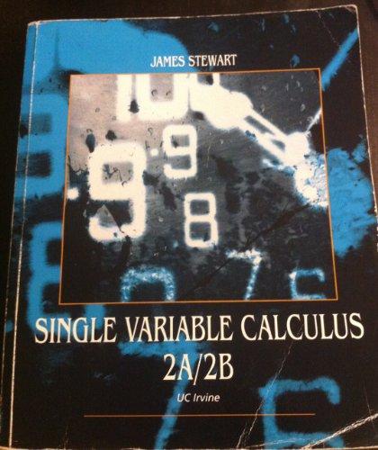 9781133306764: Single Variable Calculus 2A/2B (UC Irvine Edition)