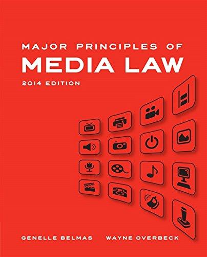 9781133307327: Major Principles of Media Law, 2014 Edition