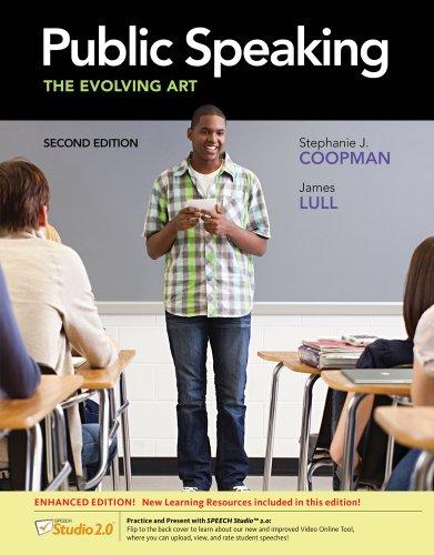 9781133307860: Public Speaking: The Evolving Art, Enhanced