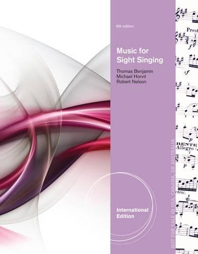 Music for Sight Singing, International Edition: Robert S. Nelson,