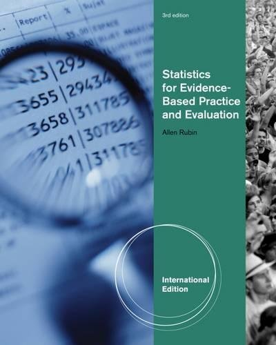 Statistics for Evidence-Based Practice and Evaluation (1133309399) by Allen Rubin
