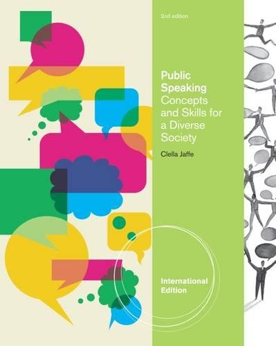 Public Speaking Concepts And Skills For A Clella Iles Jaffe