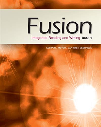 9781133312154: Fusion: Integrated Reading and Writing, Book 1 (New 1st Editions in Developmental English)