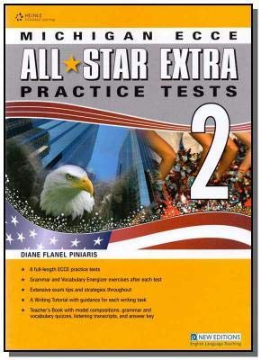 9781133319290: All Star Extra 2 Practice Tests for Michigan ECCE Teachers Book