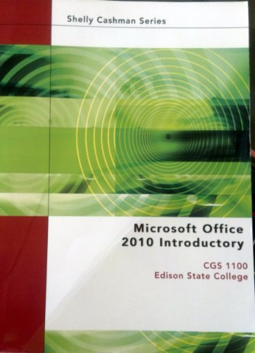9781133360803: Microsoft Office 2010 Introductory (CGS 1100 Edison State College)