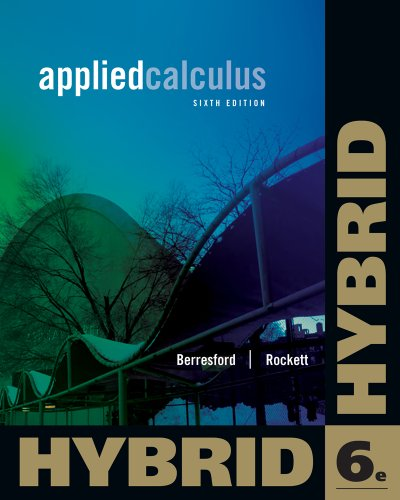 9781133364771: Applied Calculus, Hybrid Edition (with Enhanced WebAssign with eBook LOE Printed Access Card for One-Term Math and Science) (Cengage Learning's New Hybrid Editions!)