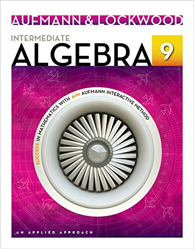 9781133365402: Intermediate Algebra: An Applied Approach