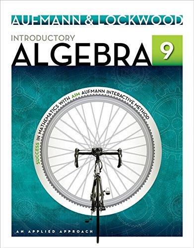 Introductory Algebra: An Applied Approach: Aufmann, Richard N.;