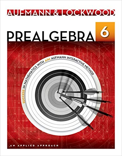 Prealgebra: An Applied Approach: Lockwood, Joanne, Aufmann,
