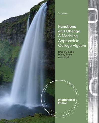 9781133365594: Functions and Change: College Algebra