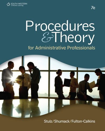 Bundle: Procedures & Theory for Administrative Professionals,: Stulz, Karin M.,