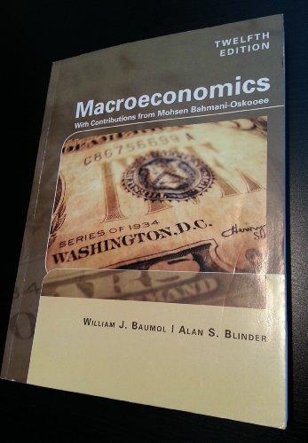 Macroeconmics with Contributions From Mohsen Bahmani-oskooee: William J. Baumol,