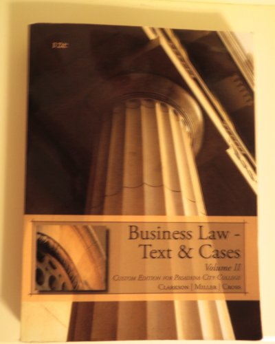 9781133440000: Business Law-Text & Cases (Custom Edition for Pasadena City College)