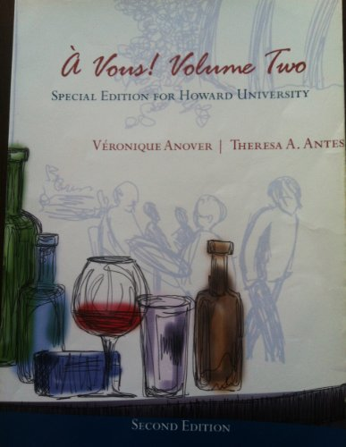 9781133440277: à Vous! Volume Two (Special Edition For Howard University)