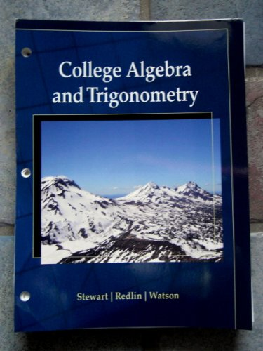 9781133440321 College Algebra And Trigonometry 3rd Edition Cengage