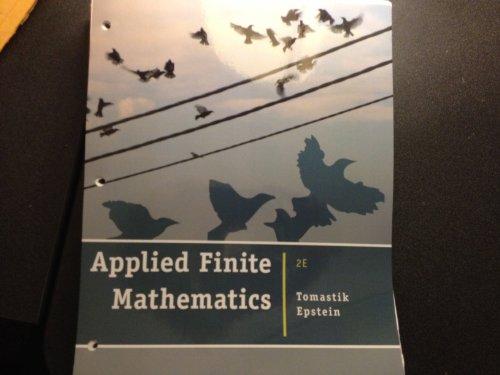 9781133444282: Applied Finite Mathematics - Second Edition [Loose Leaf]