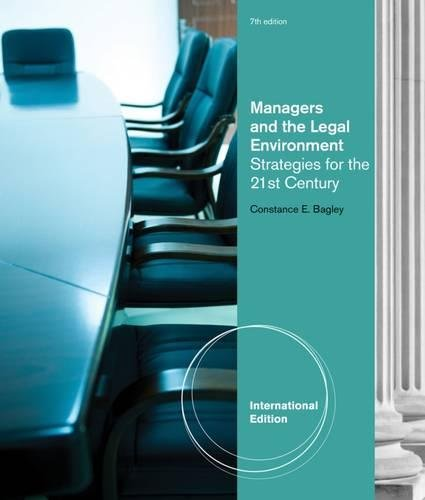 9781133485957: Managers and the Legal Environment: Strategies for the 21st Century