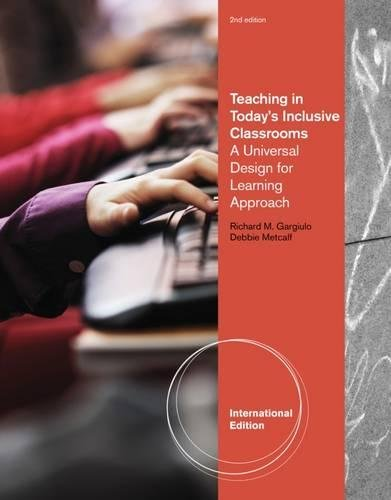 9781133489733: Teaching in Today's Inclusive Classrooms: A Universal Design for Learning Approach