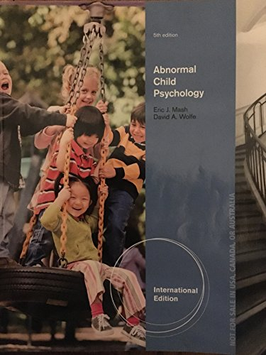 9781133492610: Abnormal Child Psychology: International Edition