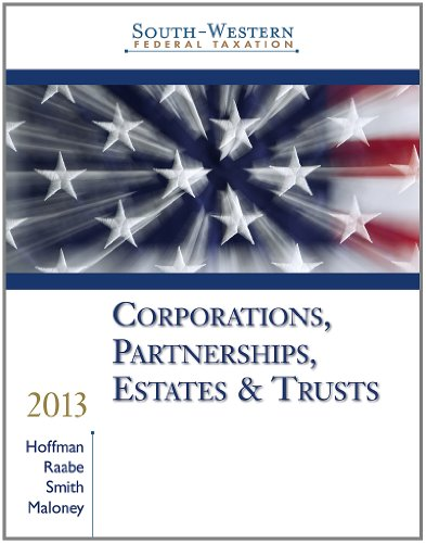 9781133495574: South-Western Federal Taxation 2013: Corporations, Partnerships, Estates and Trusts, Professional Version (with H&R Block @ Home CD-ROM)
