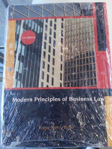9781133531623: Modern Principles of Business Law Loose Leaf Bundle