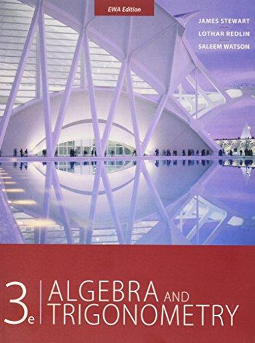 3e Algebra and Trigonometry: James Stewart, Lothar