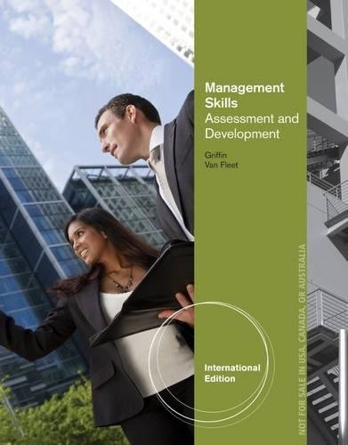 9781133582953: Management Skills: Assessment and Development