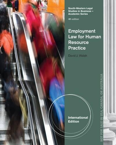 9781133584155: Employment Law for Human Resource Practice, International Edition