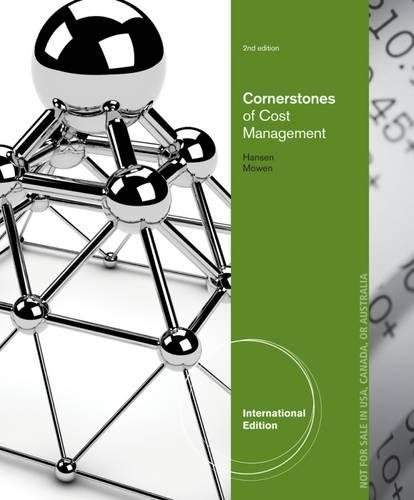 Introduction to Cost Accounting: Hansen, Don R.