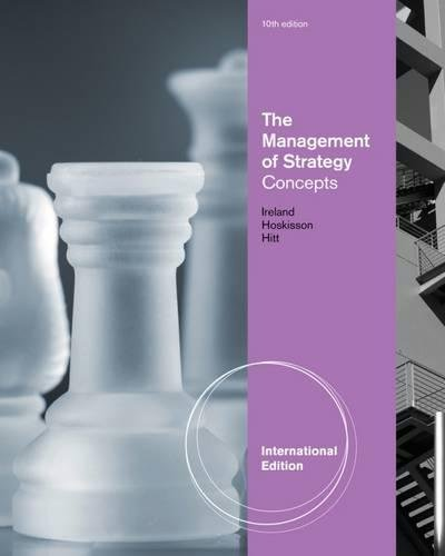 The Management of Strategy: Concepts: Ireland, R. Duane