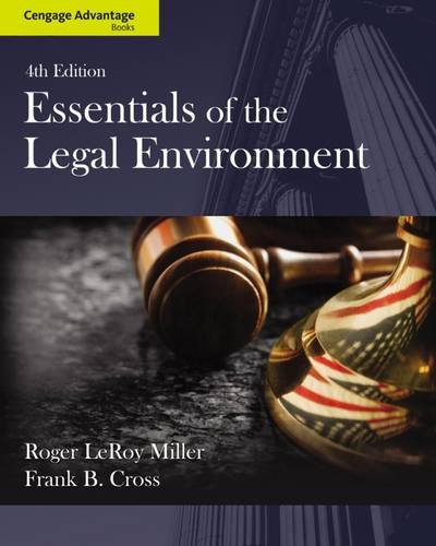 9781133586548: Cengage Advantage Books: Essentials of the Legal Environment