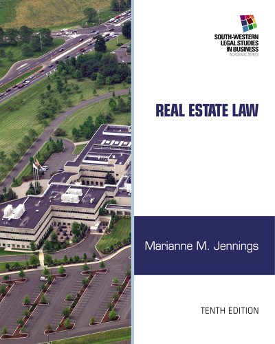 Real Estate Law (South-Western Legal Studies in: Jennings, Marianne M.