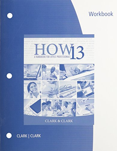 9781133586630: Workbook for Clark/Clark's HOW 13: A Handbook for Office Professionals, 13th