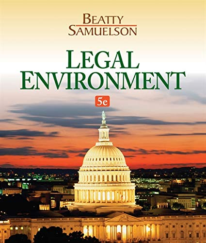 Legal Environment (MindTap Course List): Beatty, Jeffrey F.;