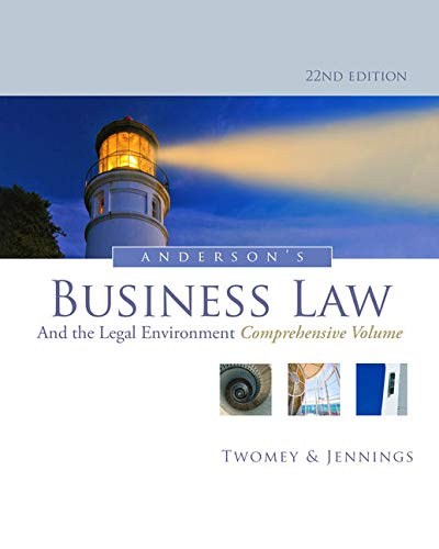 Anderson's Business Law and the Legal Environment,: Jennings, Marianne M.,