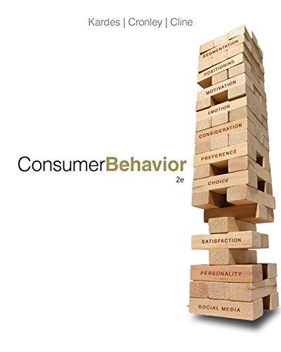 Consumer Behavior: Kardes, Frank; Cronley,