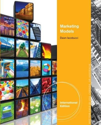 9781133588108: Marketing Models: Multivariate Statistics and Marketing Analysis