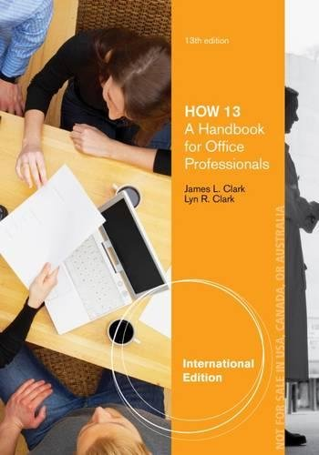 9781133588238: HOW 13: A Handbook for Office Professionals, International Edition