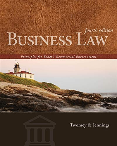 Business Law: Principles for Today's Commercial Environment: Twomey, David P.