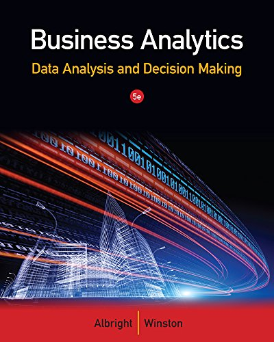 Business Analytics Data Analysis And Decision Making: Connie Morrison