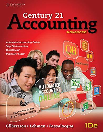 9781133588313: Adventure Gear Manual Simulation for Gilbertson/Lehman/Passalacqua's Century 21 Accounting: Advanced